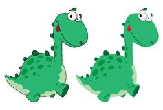 Cute dino cartoon Royalty Free Stock Image