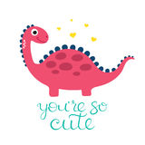 Cute dino illustration Stock Photography