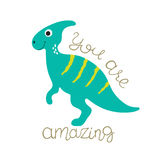 Cute dino illustration Stock Images