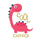 Cute dino illustration Stock Photo
