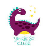 Cute dino illustration Stock Photos