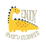 Cute dino illustration Royalty Free Stock Images