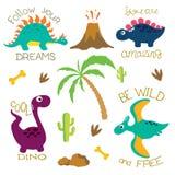 Cute dino illustration Royalty Free Stock Photos