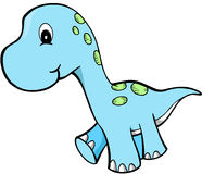 Cute dinosaur. Cute Blue Dinosaur Vector Illustration Stock Photo