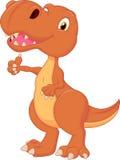 Cute dinosaur cartoon giving thumb up Stock Images