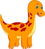 Cute Dinosaur Cartoon royalty free illustration