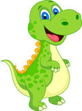 Cute dinosaur cartoon Stock Image