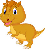 Cute dinosaur cartoon Stock Images