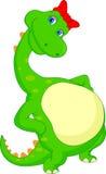 Cute dinosaur cartoon Royalty Free Stock Image
