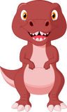 Cute dinosaur cartoon Royalty Free Stock Image