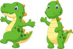 Cute dinosaur cartoon Stock Photos