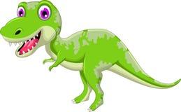 Cute dinosaur cartoon Stock Images