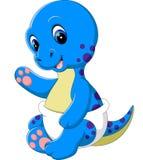 Cute dinosaur cartoon. Illustration of Cute dinosaur cartoon Royalty Free Stock Photo