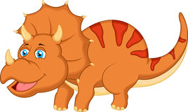 Cute dinosaur cartoon. Illustration of Cute dinosaur cartoon character Royalty Free Stock Photos
