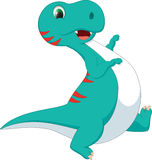 Cute dinosaur cartoon Stock Photos