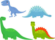 Cute dinosaur cartoon set Royalty Free Stock Photos
