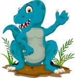 Cute dinosaur cartoon sitting for you design Stock Photo