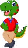 Cute dinosaur cartoon thumb up stock illustration