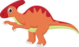 Cute dinosaur cartoon Royalty Free Stock Images
