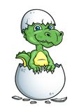 Cute dinosaur or dragon in an egg shell Royalty Free Stock Photo