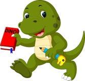 Cute dinosaur royalty free illustration
