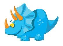 Cute dinosaur. Illustration of a cute dinosaur Stock Photos