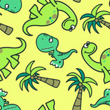 Cute dinosaur seamless pattern Royalty Free Stock Photos
