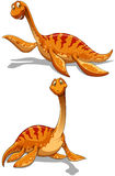 Cute dinosaur in two poses Stock Images