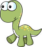 Cute Dinosaur Vector Stock Photography