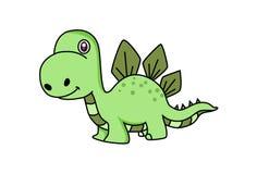 Cute Dinosaur. Stock Photo