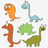 Cute dinosaurs Stock Photography