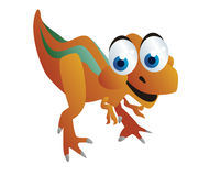 Cute dinosaurs cartoon Stock Image