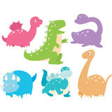 Cute Dinosaurs Collection Royalty Free Stock Image