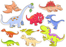 Cute dinosaurs Stock Images