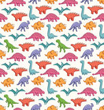 Cute dinosaurs pattern. Cute dinosaurs seamless vector pattern Royalty Free Stock Photography