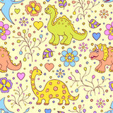 Cute dinosaurs Stock Image