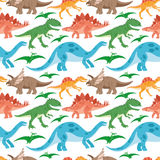 Cute dinosaurs on a white background. Royalty Free Stock Photos
