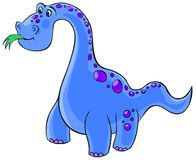 Cute diplodocus Royalty Free Stock Image