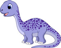 Cute diplodocus cartoon Royalty Free Stock Image