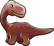 Cute diplodocus dinosaur illus Royalty Free Stock Images
