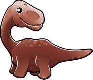 Cute diplodocus dinosaur illus Royalty Free Stock Images
