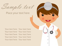 Cute doctor illustration Stock Images