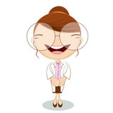 Cute doctor on white background Royalty Free Stock Photos