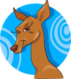 Cute doe or roe cartoon character Stock Photo