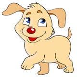 Cute dog. Cartoon illustration of smiling puppy. Isolated on white background royalty free illustration