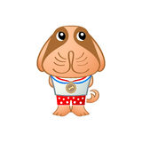 Cute dog. Champion in japanese drawing style isolated Stock Photography