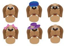 Cute dog avatars Stock Images