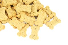 Cute Dog Biscuits Shaped into a Bone Stock Photo