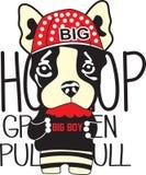 A cute dog boy cartoon royalty free illustration