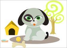 Cute dog cartoon Stock Images